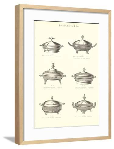 Silver Chafing Dishes--Framed Art Print