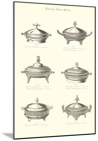 Silver Chafing Dishes--Mounted Art Print
