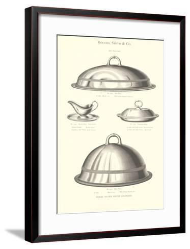 Silver Serving Accessories--Framed Art Print