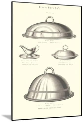 Silver Serving Accessories--Mounted Art Print