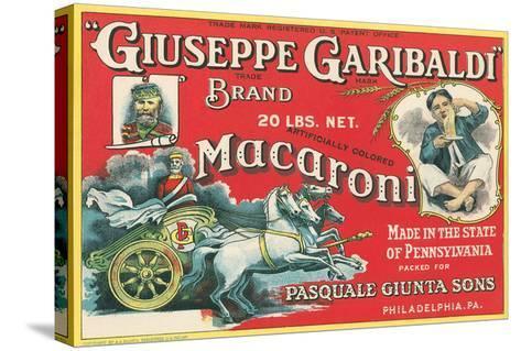 Giuseppe Garibaldi Macaroni Label--Stretched Canvas Print