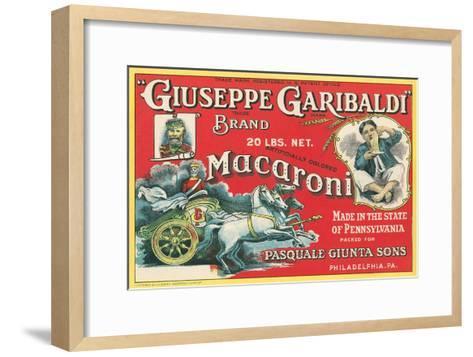 Giuseppe Garibaldi Macaroni Label--Framed Art Print