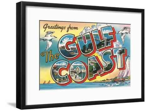Greetings from the Gulf Coast--Framed Art Print