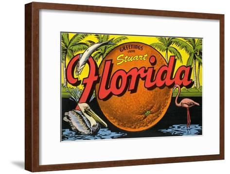 Greetings from Stuart, Florida--Framed Art Print
