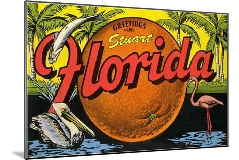 Greetings from Stuart, Florida--Mounted Art Print