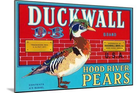 Pear Crate Label, Duckwall--Mounted Art Print