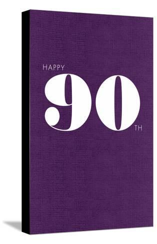 Happy 90th--Stretched Canvas Print
