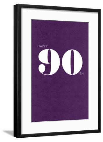 Happy 90th--Framed Art Print