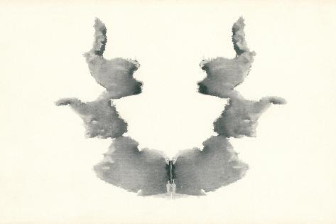 Rorschach Test in Black--Stretched Canvas Print