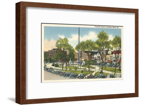 Fountain Square, Bowling Green, Kentucky--Framed Art Print