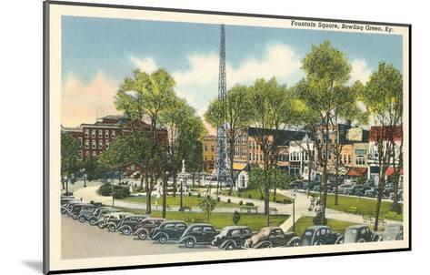 Fountain Square, Bowling Green, Kentucky--Mounted Art Print