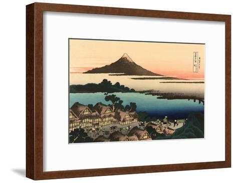 Mt. Fuji and Japanese Village--Framed Art Print