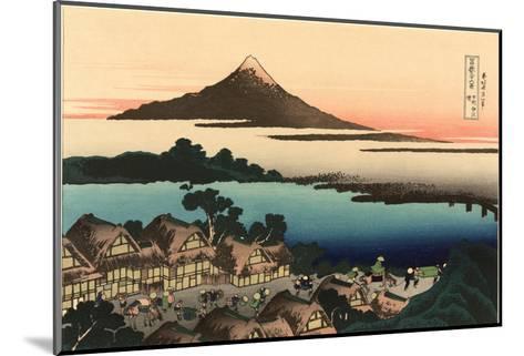 Mt. Fuji and Japanese Village--Mounted Art Print