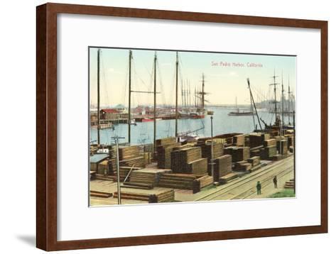 San Pedro Harbor, California--Framed Art Print
