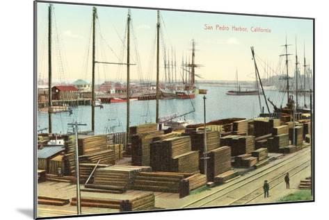 San Pedro Harbor, California--Mounted Art Print