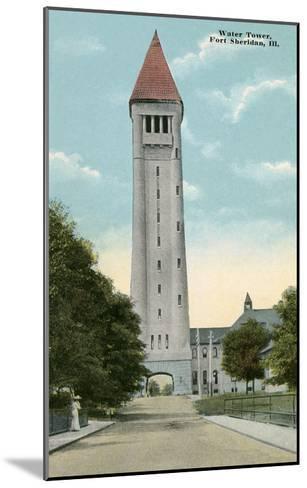 Water Tower, Ft. Sheridan, Illinois--Mounted Art Print