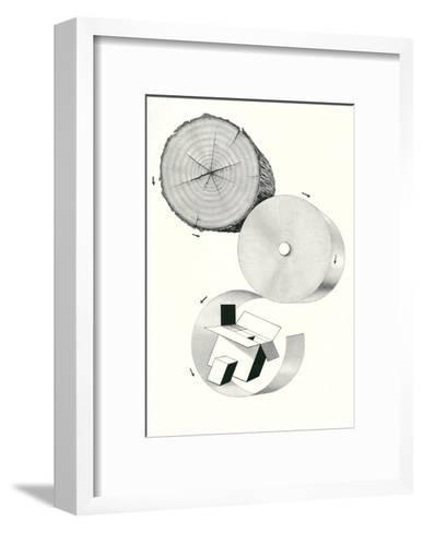 How Cardboard Is Made--Framed Art Print