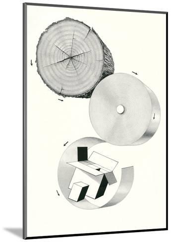How Cardboard Is Made--Mounted Art Print