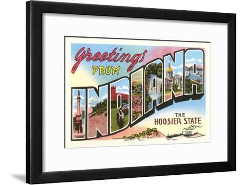 Greetings from Indiana--Framed Art Print