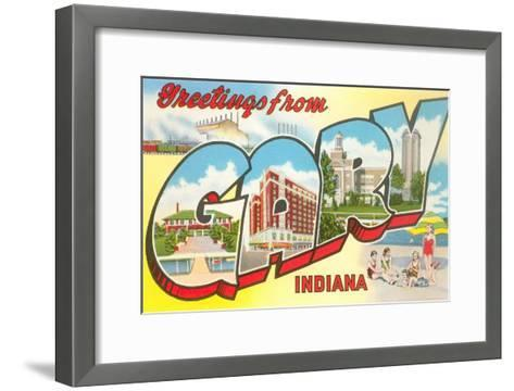 Greetings from Gary, Indiana--Framed Art Print