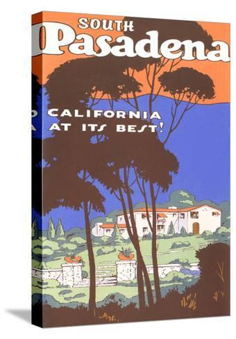 Poster for South Pasadena, California--Stretched Canvas Print