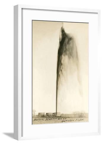 Oil Gusher--Framed Art Print