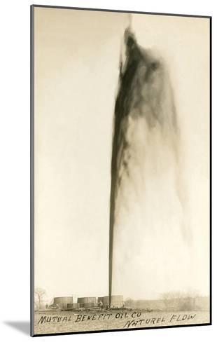 Oil Gusher--Mounted Art Print