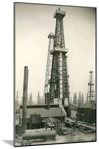 Derrick and Oil Field--Mounted Art Print