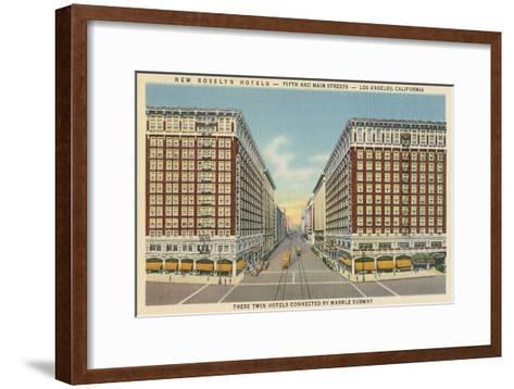 Rosslyn Hotels, Downtown Los Angeles--Framed Art Print