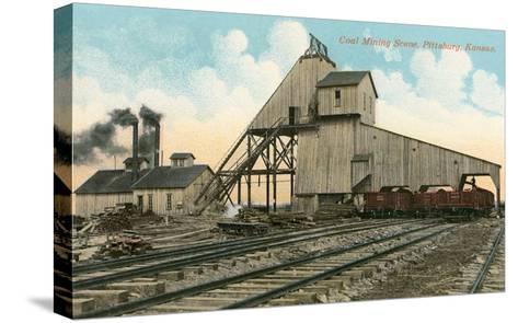 Coal Loadinig Facility, Pittsburg, Kansas--Stretched Canvas Print