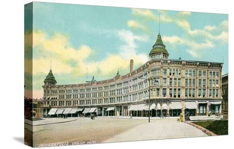English Hotel, Indianapolis, Indiana--Stretched Canvas Print