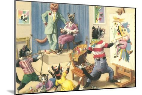 Art Class for Cats--Mounted Art Print