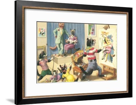 Art Class for Cats--Framed Art Print