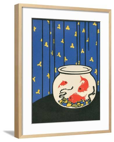 Gold Fish in Bowl--Framed Art Print