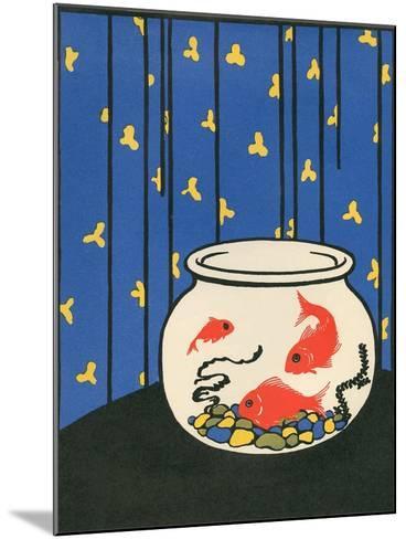 Gold Fish in Bowl--Mounted Art Print