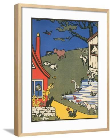 Bucolic Farm Scene--Framed Art Print