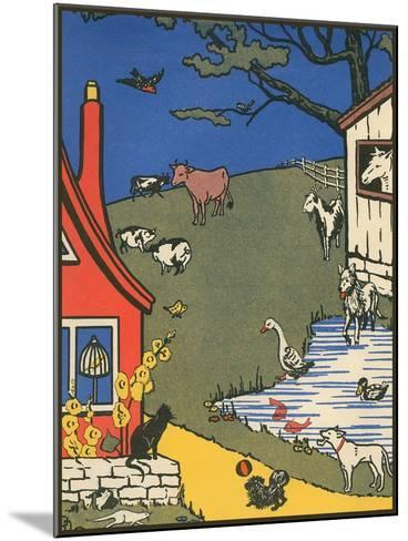Bucolic Farm Scene--Mounted Art Print