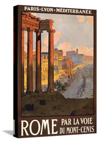 Travel Poster for Rome, Italy--Stretched Canvas Print