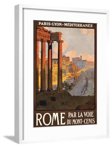 Travel Poster for Rome, Italy--Framed Art Print