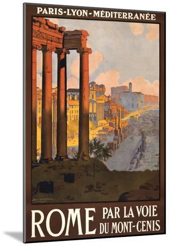 Travel Poster for Rome, Italy--Mounted Art Print