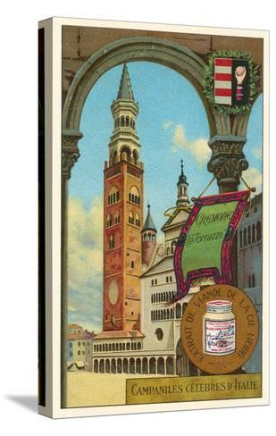 Famous Bell Towers of Italy, Cremona--Stretched Canvas Print