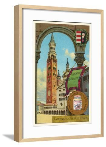 Famous Bell Towers of Italy, Cremona--Framed Art Print