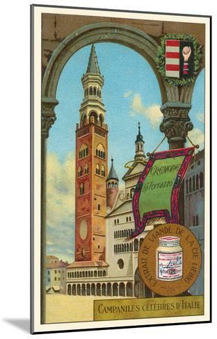 Famous Bell Towers of Italy, Cremona--Mounted Art Print