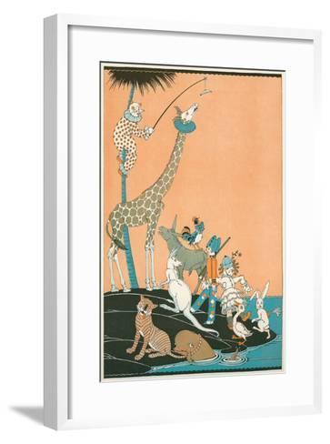 Circus Washed Up on Desert Isle--Framed Art Print