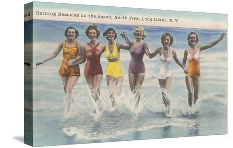 Bathing Beauties, North Fork, Long Island, New York--Stretched Canvas Print