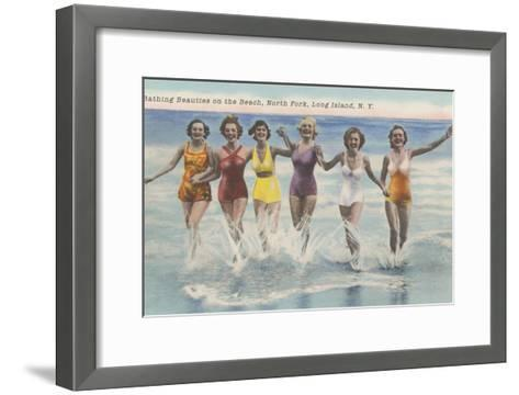 Bathing Beauties, North Fork, Long Island, New York--Framed Art Print