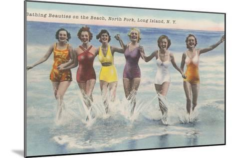 Bathing Beauties, North Fork, Long Island, New York--Mounted Art Print