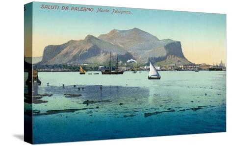 Saluti Da Palermo, Sicily, Italy--Stretched Canvas Print