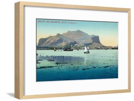 Saluti Da Palermo, Sicily, Italy--Framed Art Print