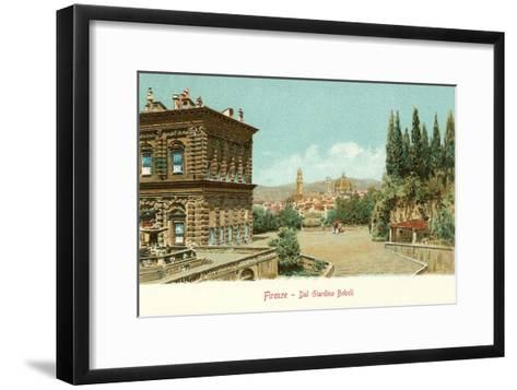Boboli Gardens, Florence, Italy--Framed Art Print